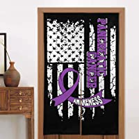 GAJAJAYZXN USA Flag Pancreatic Cancer Awareness 3D Printing Hangings Personalized...