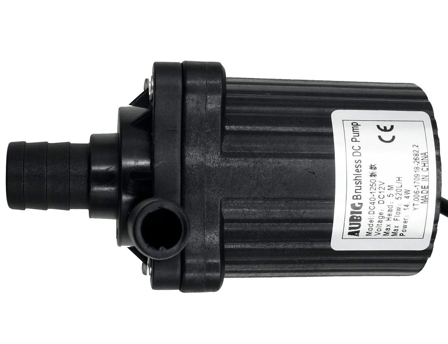 AUBIG DC 12V Micro B/ürstenlos Wasserpumpe Magnetpumpe 500 L//H Teichpumpe Solar F/örderpumpe f/ür Teiche Brunnen Aquarium Garten