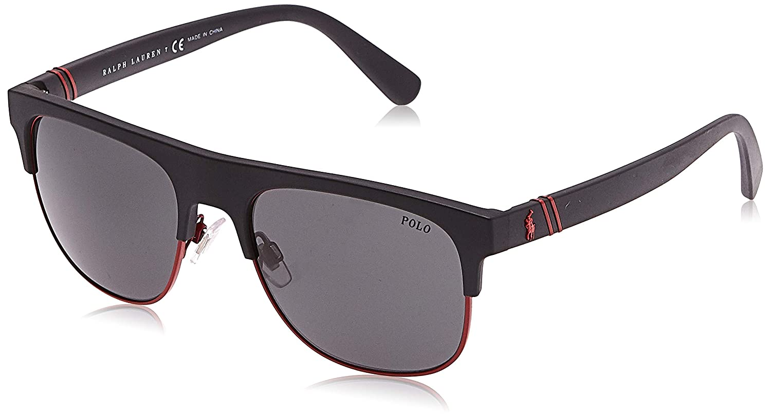 Polo 0PH4132 Gafas de sol, Rectangulares, 55, Matte Black: Amazon ...