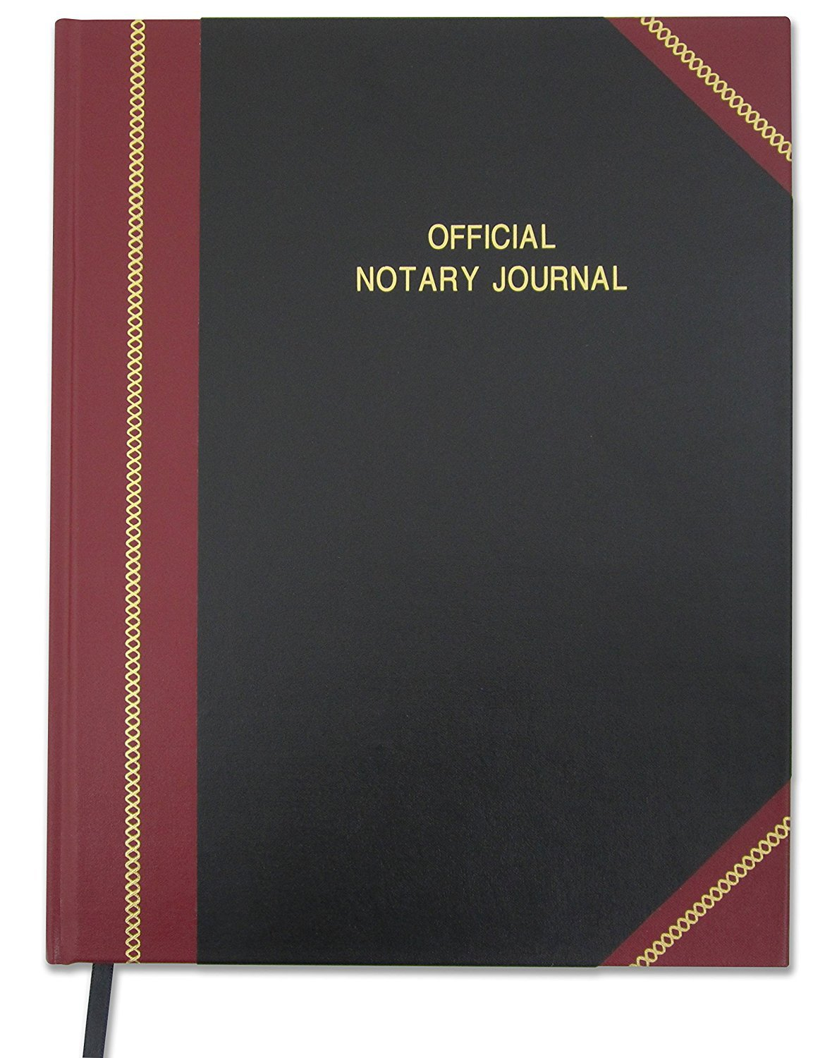 BookFactory Official Notary Journal/Log Book 336 Pages 8.5'' X 11'' 1,340 Entries All 50 States Journal of Notarial Acts, Black and Burgundy Cover, Hardbound, (LOG-336-7CS-LKMST71(Notary)) by BookFactory