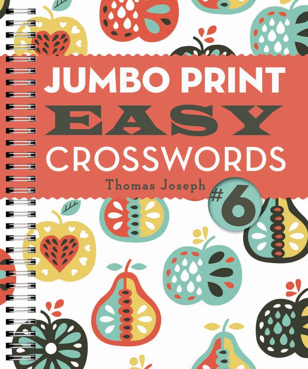 photo relating to Printable Thomas Joseph Crossword Puzzle for Today named Jumbo Print Simple Crosswords #6 (Massive Print Crosswords