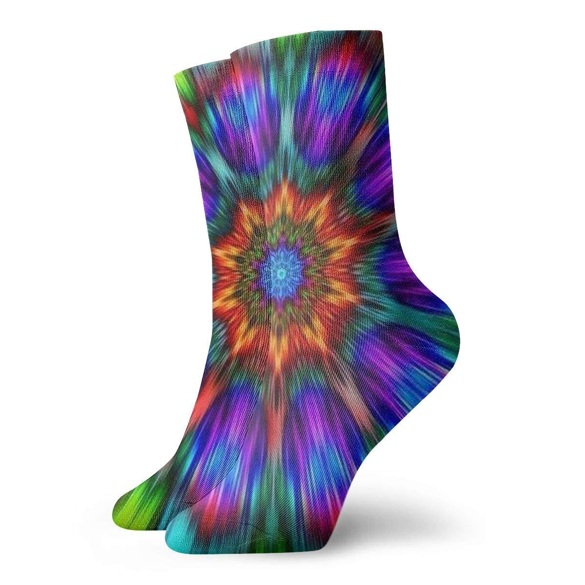 Amazon Com Wondermake Mandala Trippy Tie Dye Dress Socks Funny
