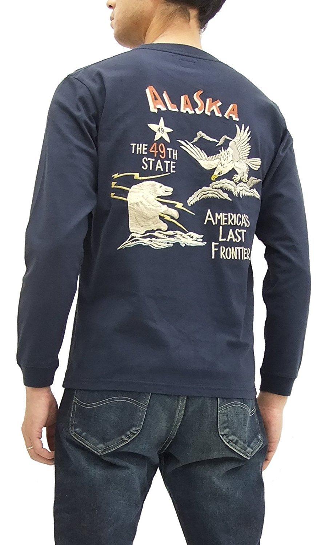Tailor Toyo Long Sleeve T-shirt TT67789 Alaska Men's Souvenir Jacket Style Tee Navy (Small) by Tailor Toyo