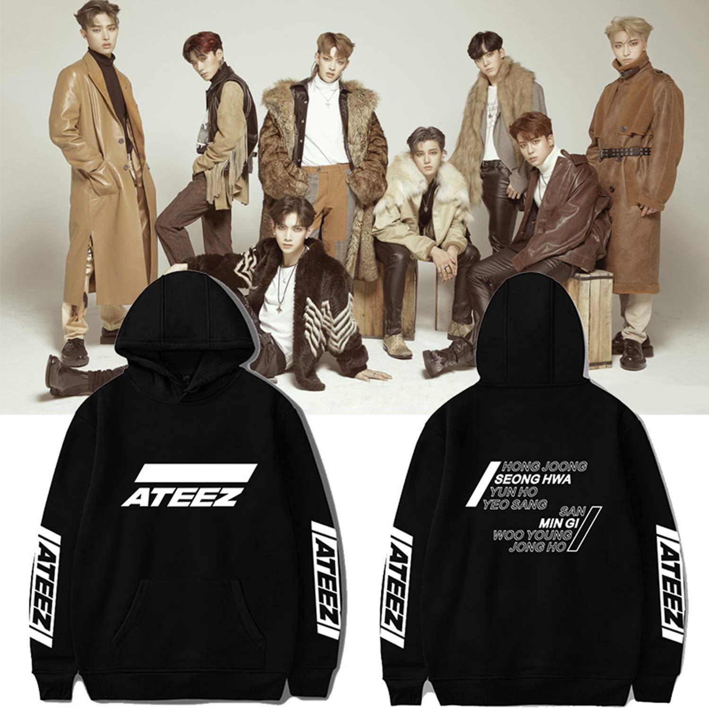 Xkpopfans Kpop ATEEZ Hoodie New Album Pullover Wooyoung San Mingi Yeosang Sweatshirt Jacket