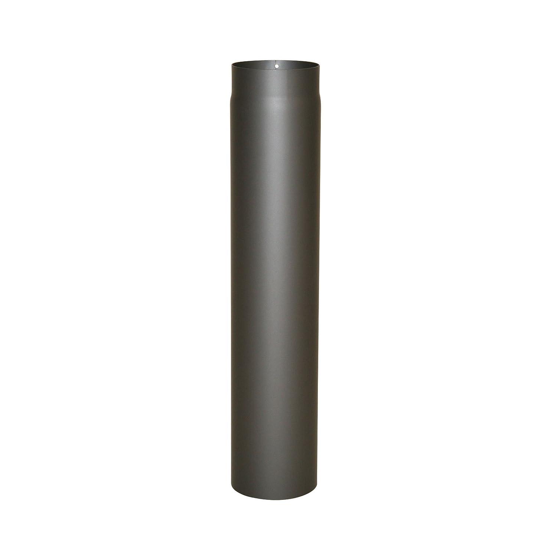 Kamino - Flam – Tubo para chimenea, Conducto de humos – resistente a altas temperaturas, Antracita, Ø 150 mm/longitud 750 mm Conducto de humos - resistente a altas temperaturas Ø 150 mm/longitud 750 mm Kamino Flam 331882