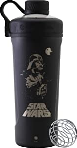 BlenderBottle Star Wars Radian Stainless Steel Shaker Bottle, 26oz, Darth Vader Retro