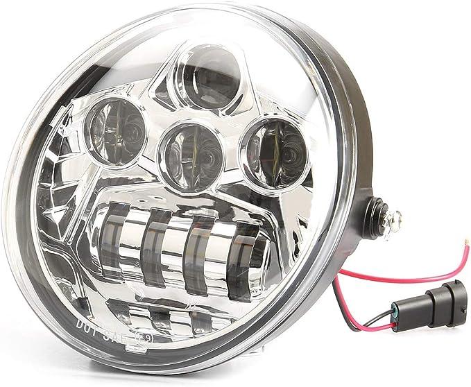 . 1 faro a LED nero per D avidson VRSCA V-Rod Muscle VRod Night Rod Special nero