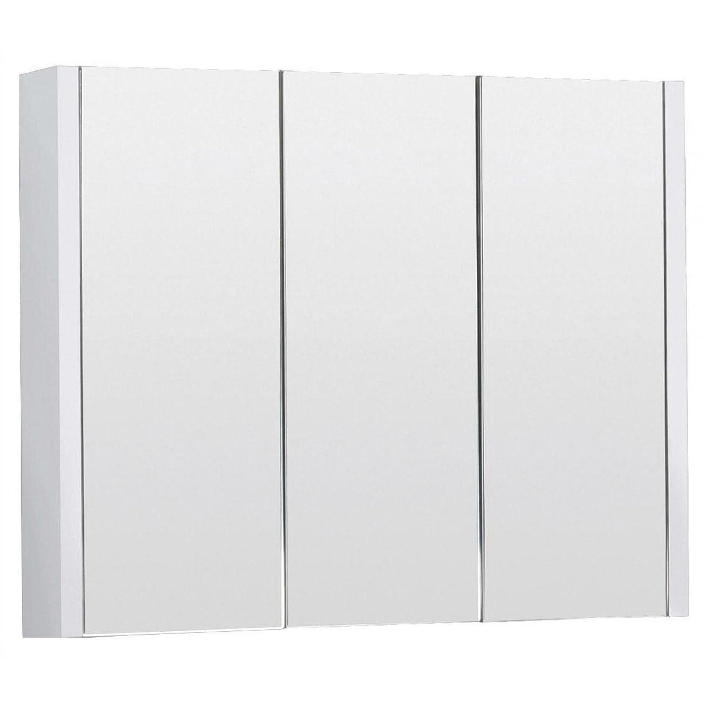 Design Modern 600mm Gloss White Bathroom 2 Doors Mirror Cabinet Storage Royal Bathrooms