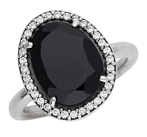 a9f18a0cd Pandora Glamorous Legacy Ring with Clear Cubic Zirconia & Black Spinel,  190893SPB-58: Amazon.ca: Jewelry