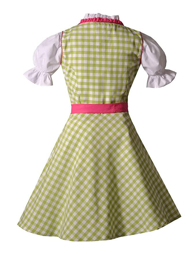 BayerMadl - Vestido infantil de tirolesa en verde y rosacon ...