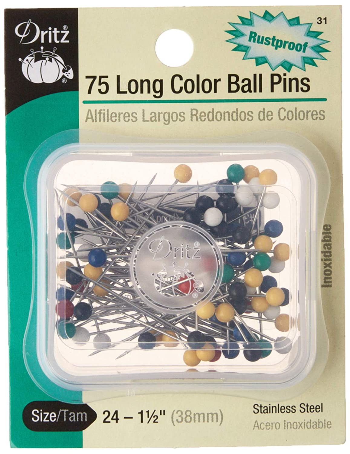 Dritz/  / Set de Largo Color Pelota Pins / 1//2-inch 1/