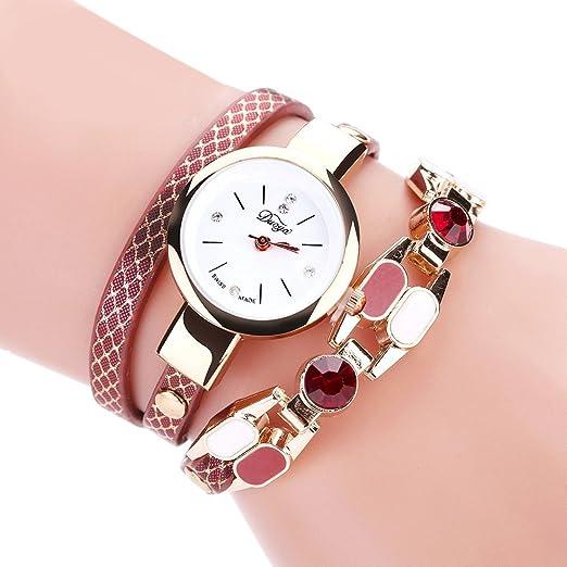 Para mujer pulsera relojes Cooki Lady niña de mesa de moda del diamante círculo pulsera cuarzo