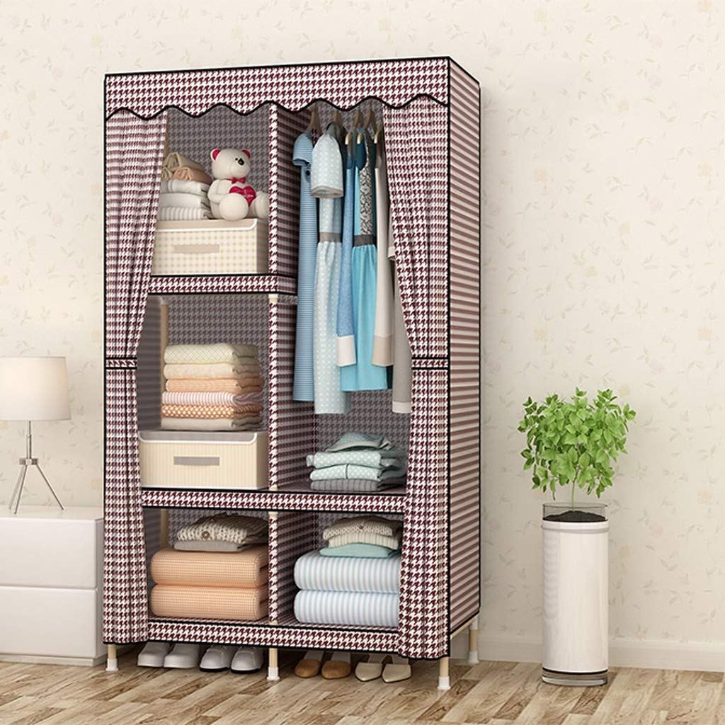 Multi-functional shelf GX Cloth Wardrobe Solid Wood Assembly Cloth Wardrobe, Simple and Modern Economic Type Small Single People Storage Cabinet Home Decoration (Color : C)