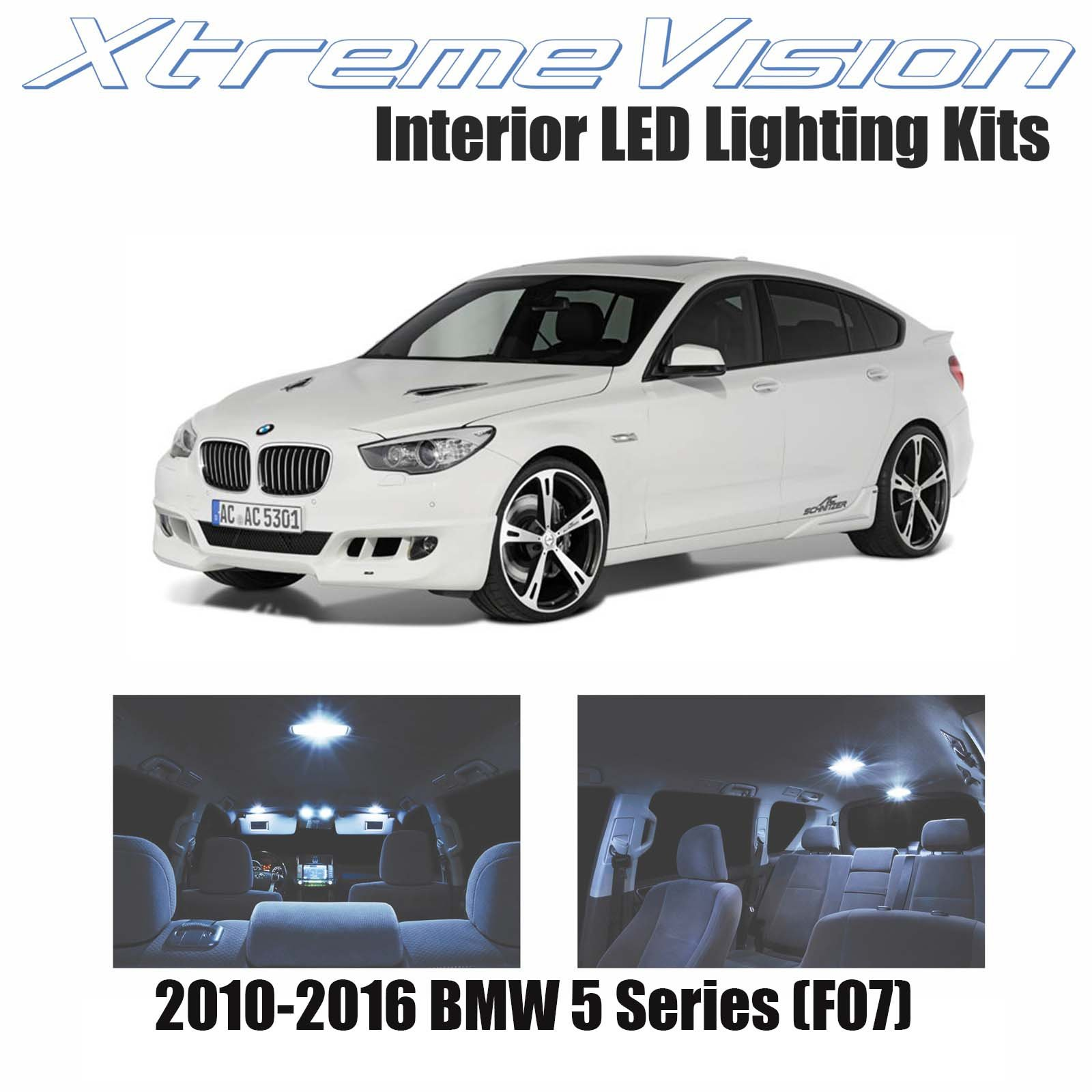 Xtremevision Bmw 5 Series F07 2010 2016 18 Pieces Cool White Premium Interior Led Kit Package