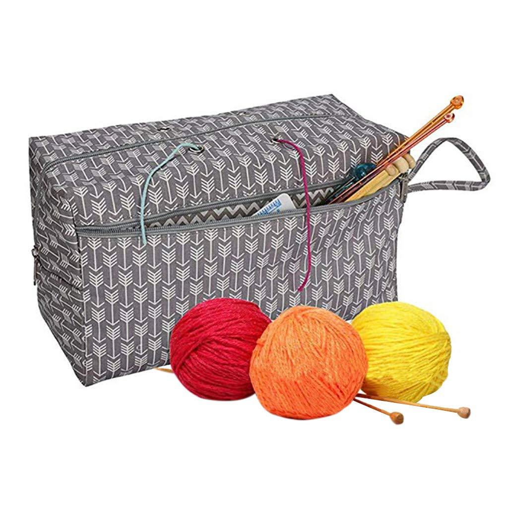 Knitting Storage Bag Mesh Tools Yarn Wool Weaving Carry Pouch Nylon Organizer