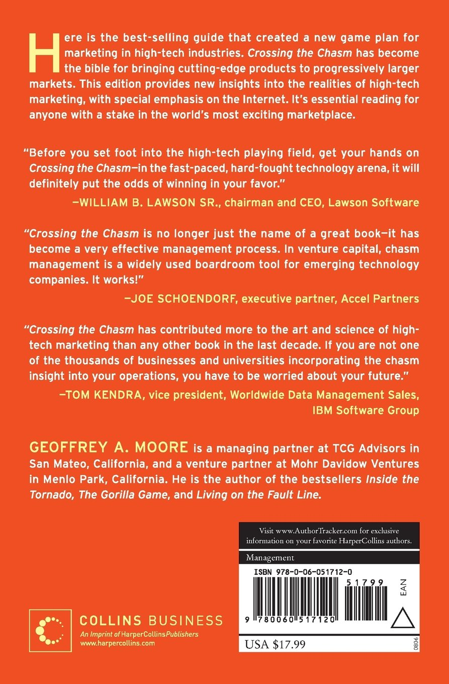 Crossing the Chasm: Marketing and Selling High-Tech Products to Mainstream  Customers: Geoffrey A. Moore, Regis McKenna: 9780060517120: Amazon.com:  Books