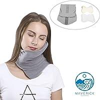 Maverick - Almohada de viaje de ALGODÓN. Cojín cervical viscoelástico y cómodo, ideal para el avión o el coche. Cojín…