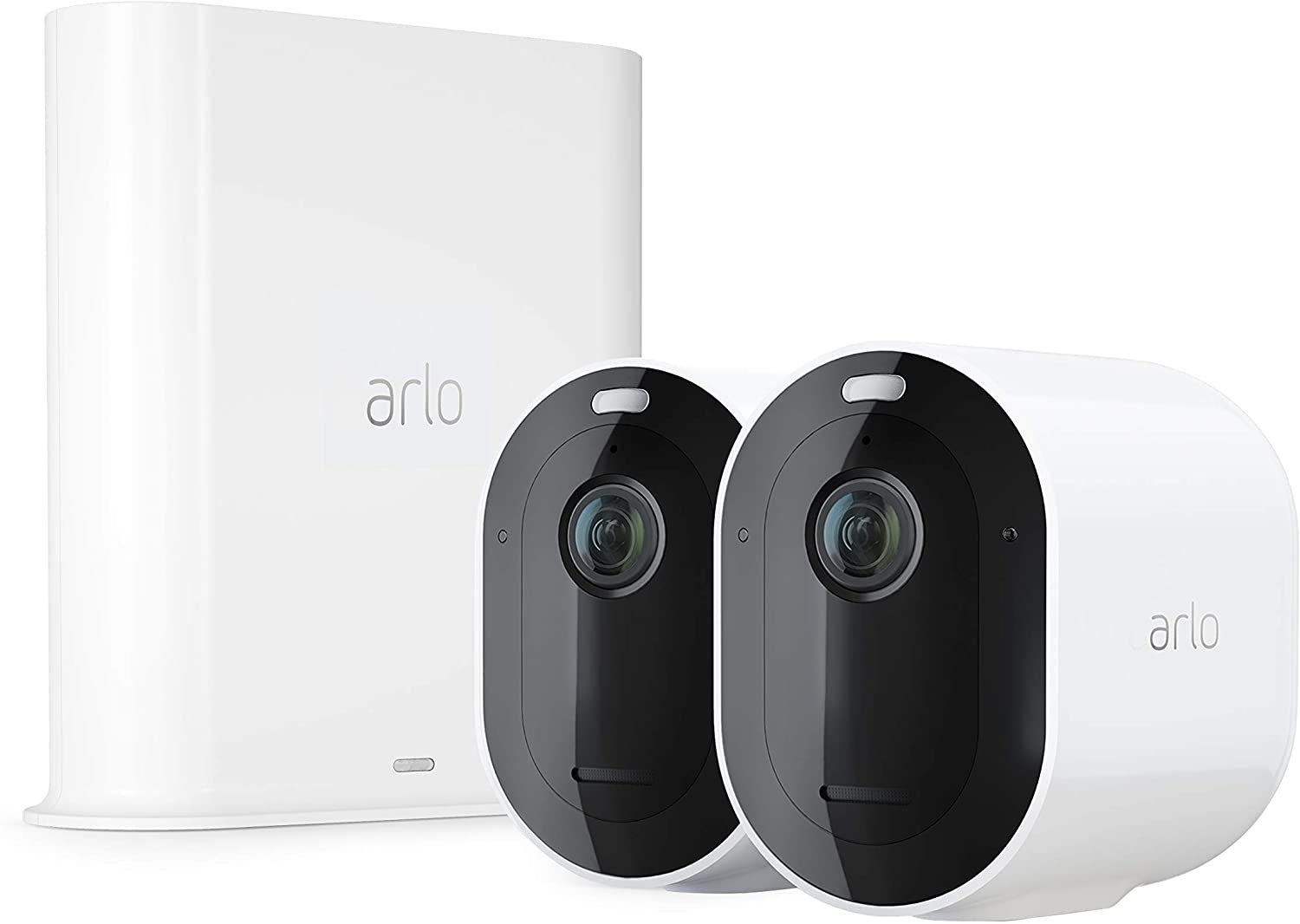 Arlo Pro 3 – Wire-Free Security 2 Camera System | 2K with HDR, Indoor/Outdoor, Color Night Vision, Spotlight, 160° View, 2-Way Audio, Siren | Works with Alexa | (VMS4240P)