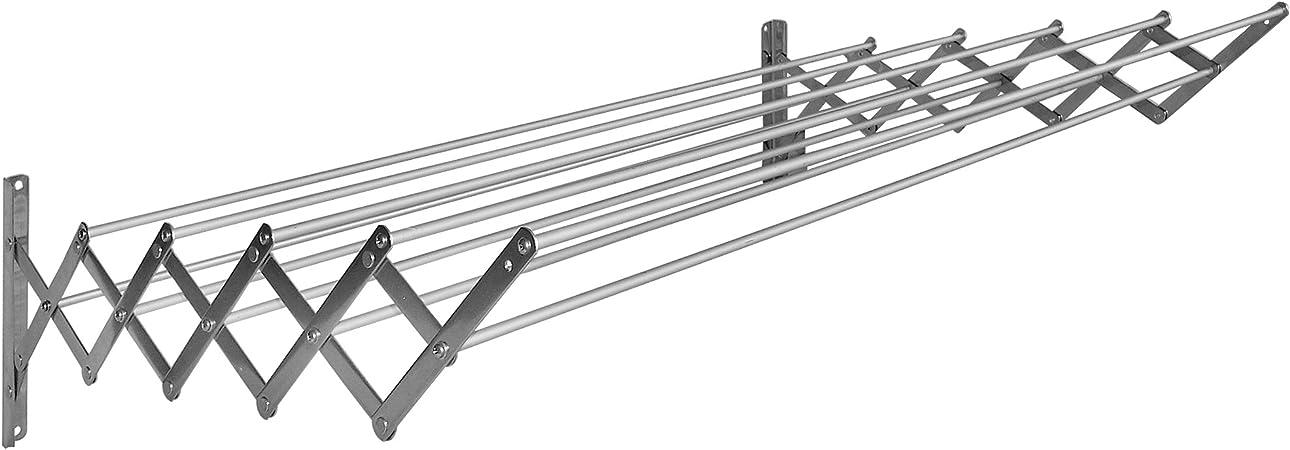 80 X 78 X 26.5 Cm Sauvic Tendedero Extensible Aluminio 80 cm Acero Inoxidable