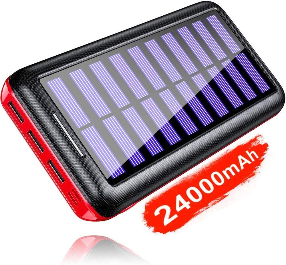 KEDRON 24000mAh Power Bank Solar Charger Compatible with All smart Phones 9