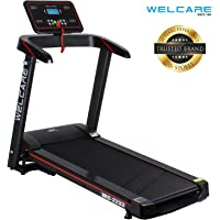 WELCARE WC2233, Motorized Folding Treadmill with LCD Display, 2.5Hp Peak DC Motor, 12 Preset Programs Perfect for Home Use