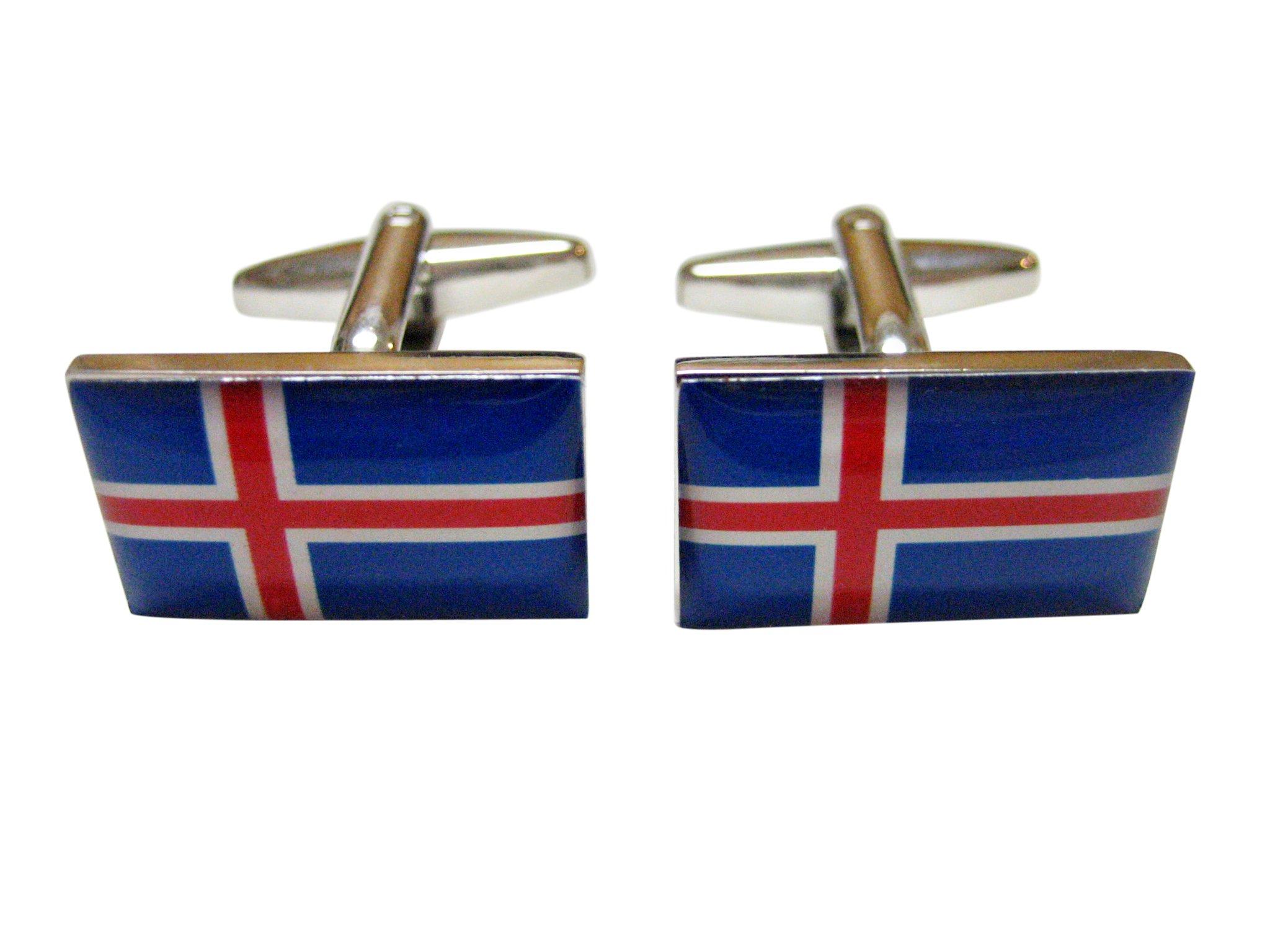 Kiola Designs Iceland Flag Cufflinks
