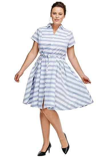 f78fc7d50055d Ellos Women's Plus Size Sandy Shirtwaist Dress