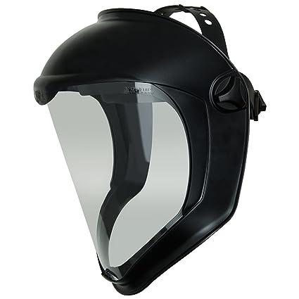 Uvex Bionic S8510. Protector facial negro ate. Cristal reforzado de  policarbonato transparente a1cdaf4d2e6
