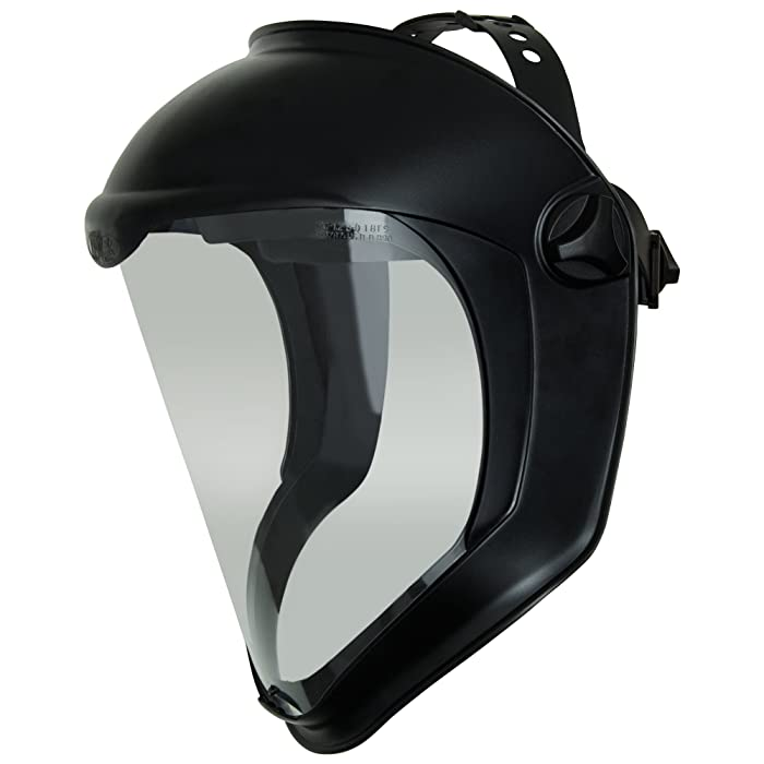 3. Uvex Bionic Face Shield with Clear Polycarbonate Visor and Anti-Fog/Hard Coat