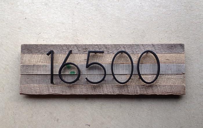 Finest Amazon.com: Reclaimed Wood Address Plaque - 5 Digits Horizontal  VI36