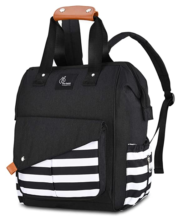 R for Rabbit Caramello Delight Diaper Bags Backpack for Mothers/Mom for Travel -Large Capacity, Durable and Stylish (Black)