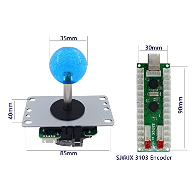 Sj Jx 2 Player Arcade Game Diy Kit Arcade Joystick Controller Mechanical Keyboard Switch Retropie Raspberry Mame Arcade Button Black Games