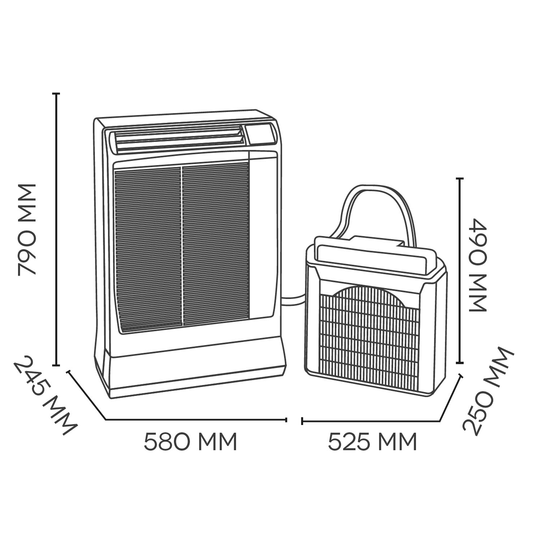 mobiles Inverter- Splitklimager/ät max Argo Ulisse 13 DCI Eco 4,0kW K/ühlleistung Energieklasse A neu K/ältemittel R32
