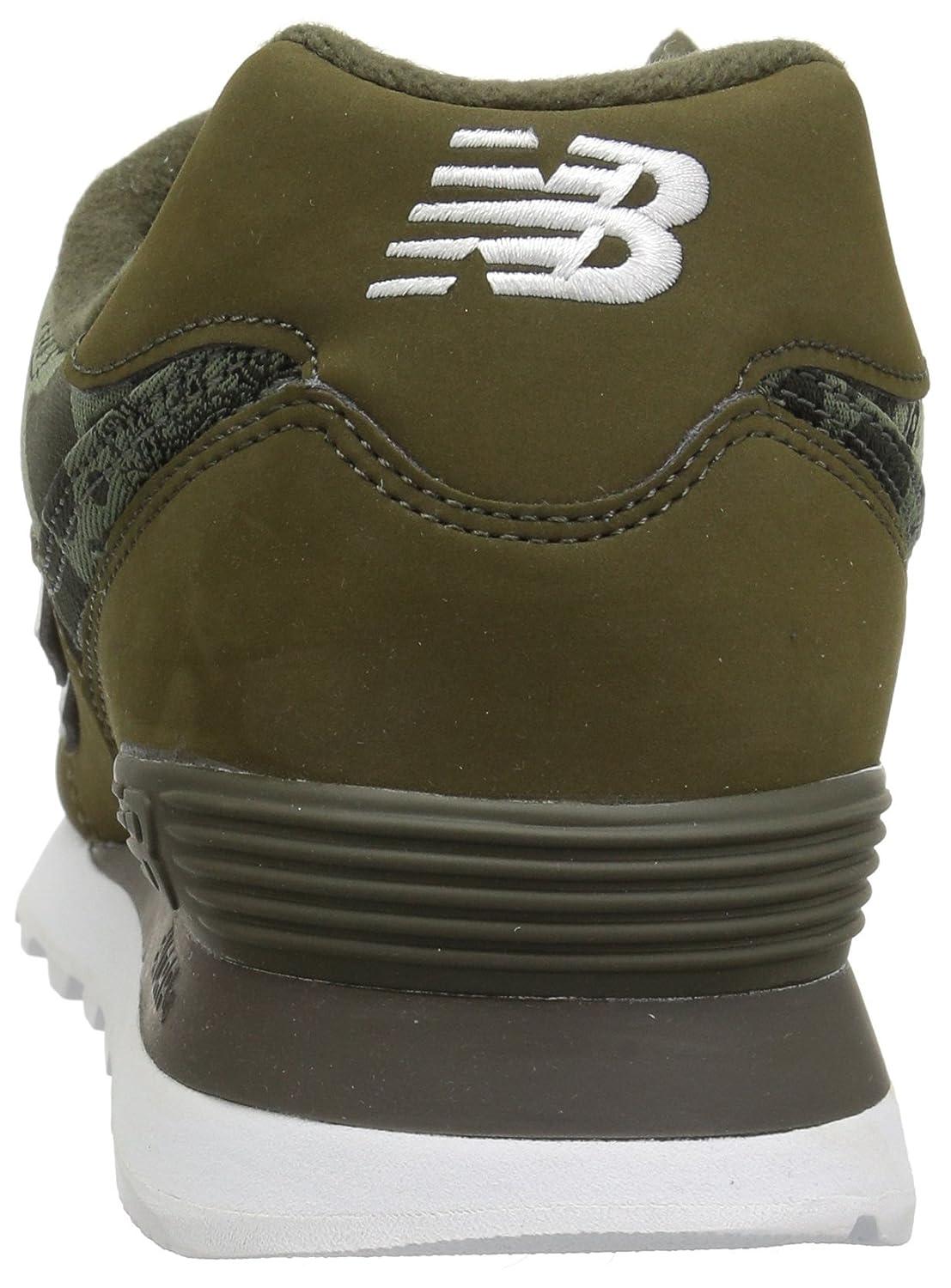 New Balance Men's 574S Sport Sneaker,covert greenwhite,7 2E US