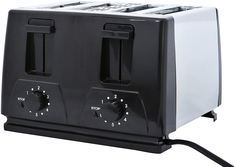 Brentwood Toaster, 4-Slice, Black