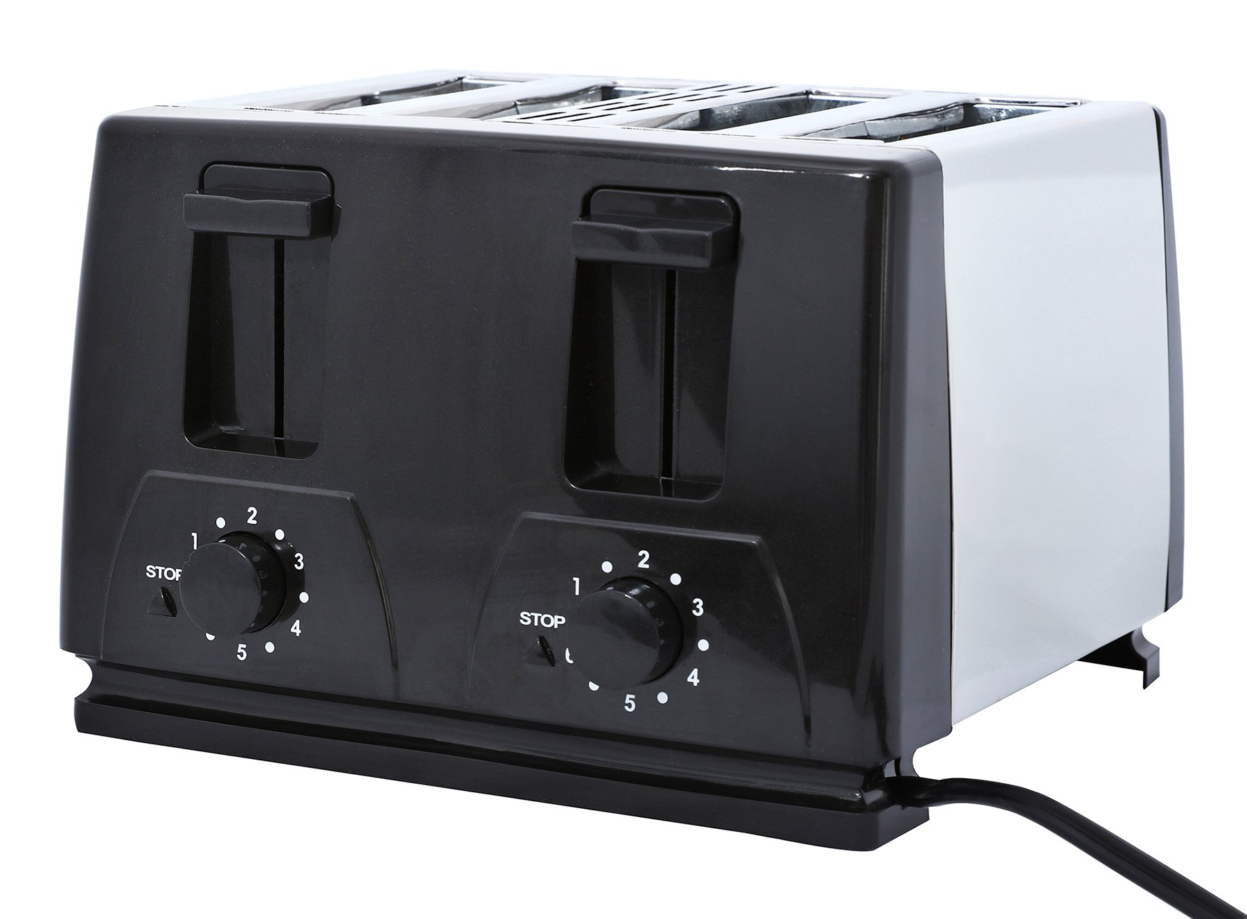 Brentwood TS-284 4 Slice Toaster, Black