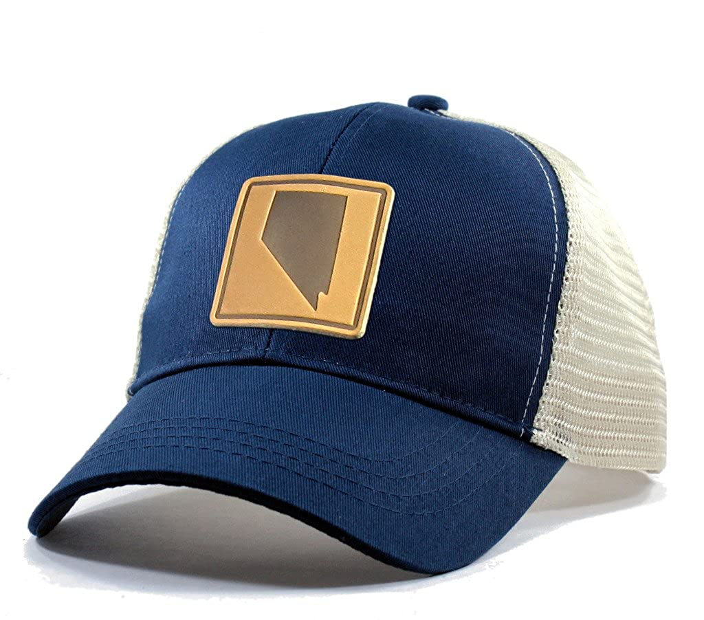 Homeland Tees Mens Nevada Leather Patch Trucker Hat