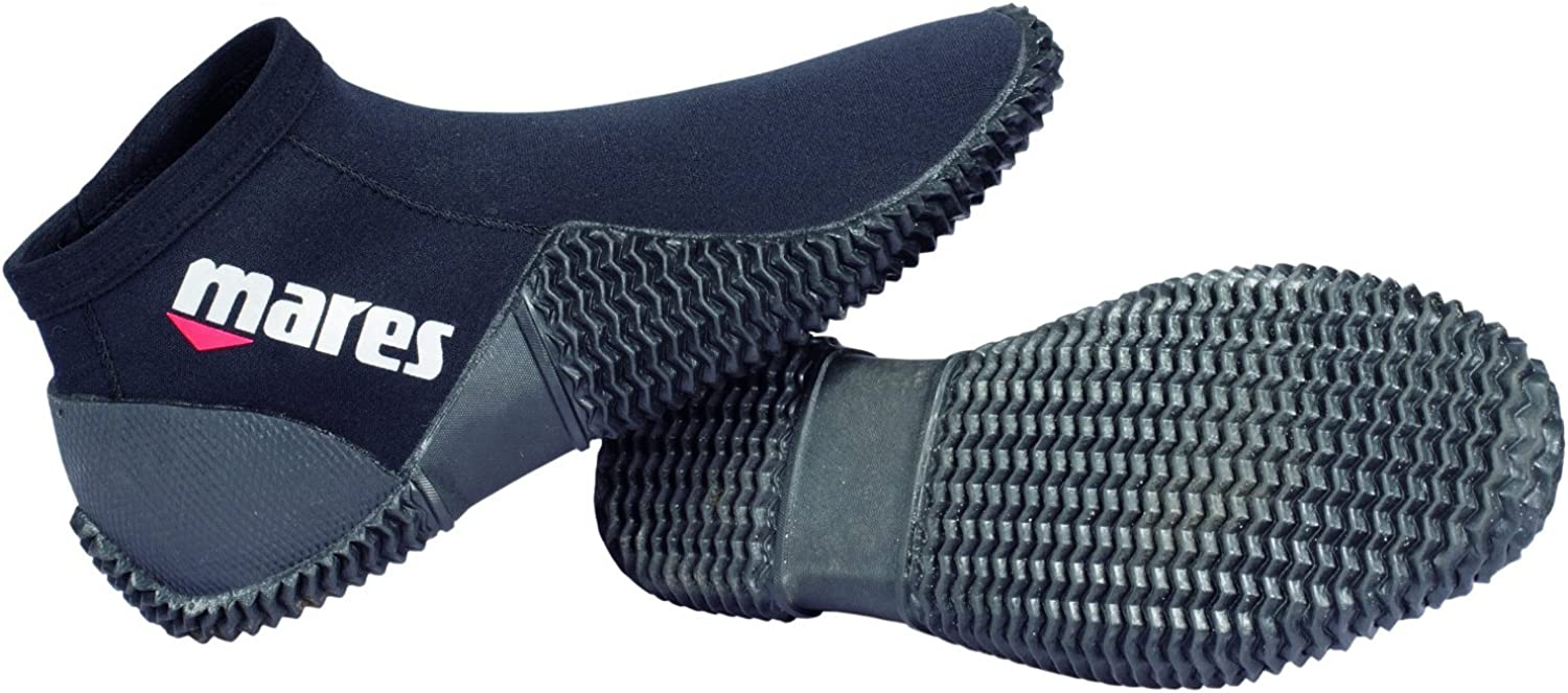 Mares Neoprene 2mm Scuba Snorkeling Dive Boots with Anti-Slip Rubber Sole for Water Sports Booties