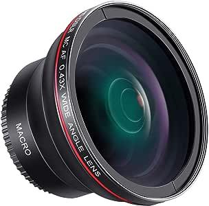 Neewer lente de 0.43 X HD gran angular con MACRO close-up parte ...
