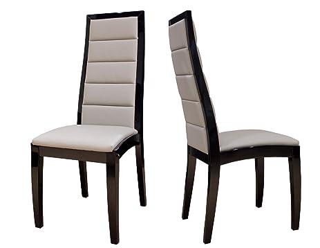 Superb Sharelle Furnishings Venus Black Lacquer Chair, Set Of 2