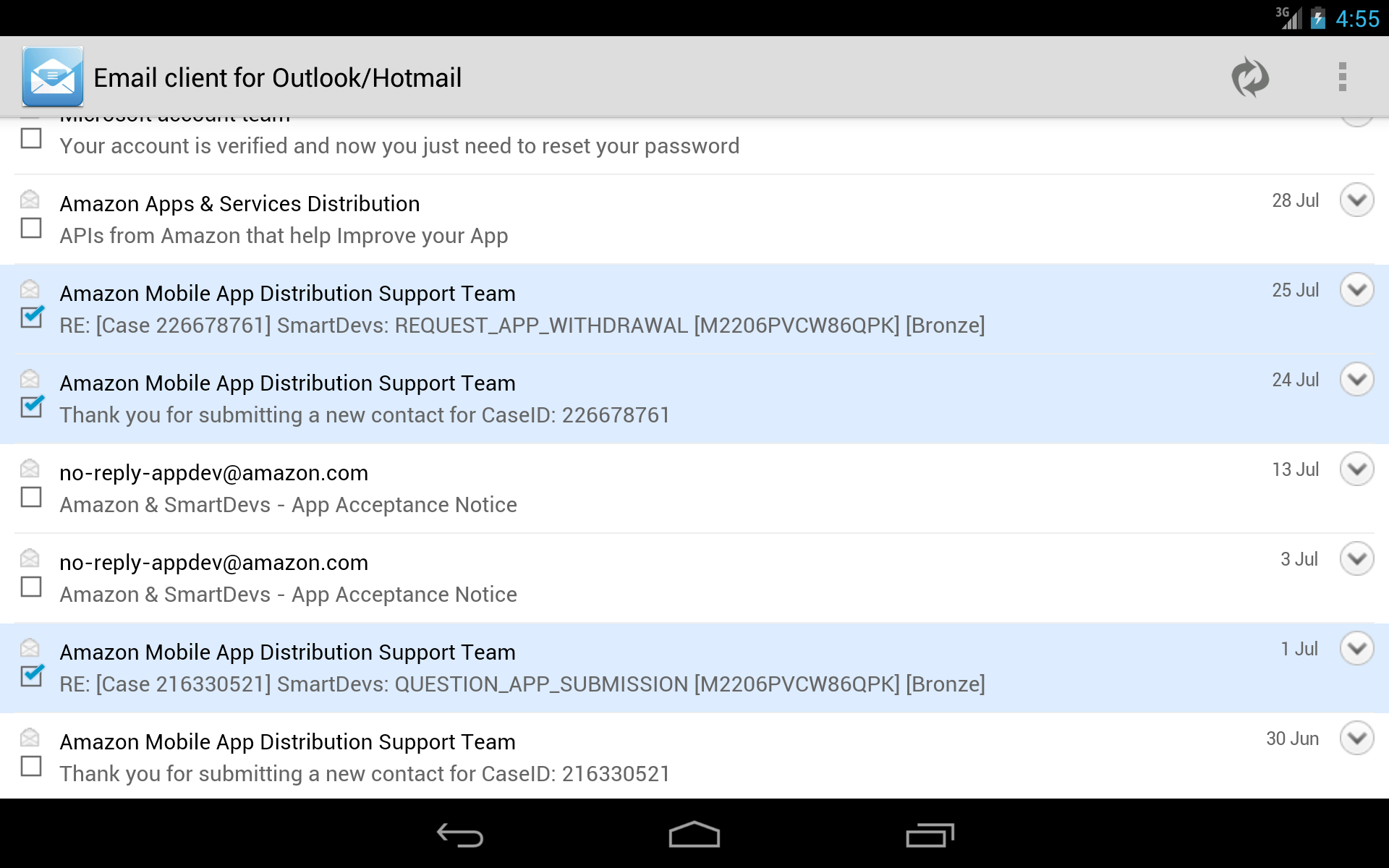 Amazon Email Client For Outlookhotmail Appstore For Android