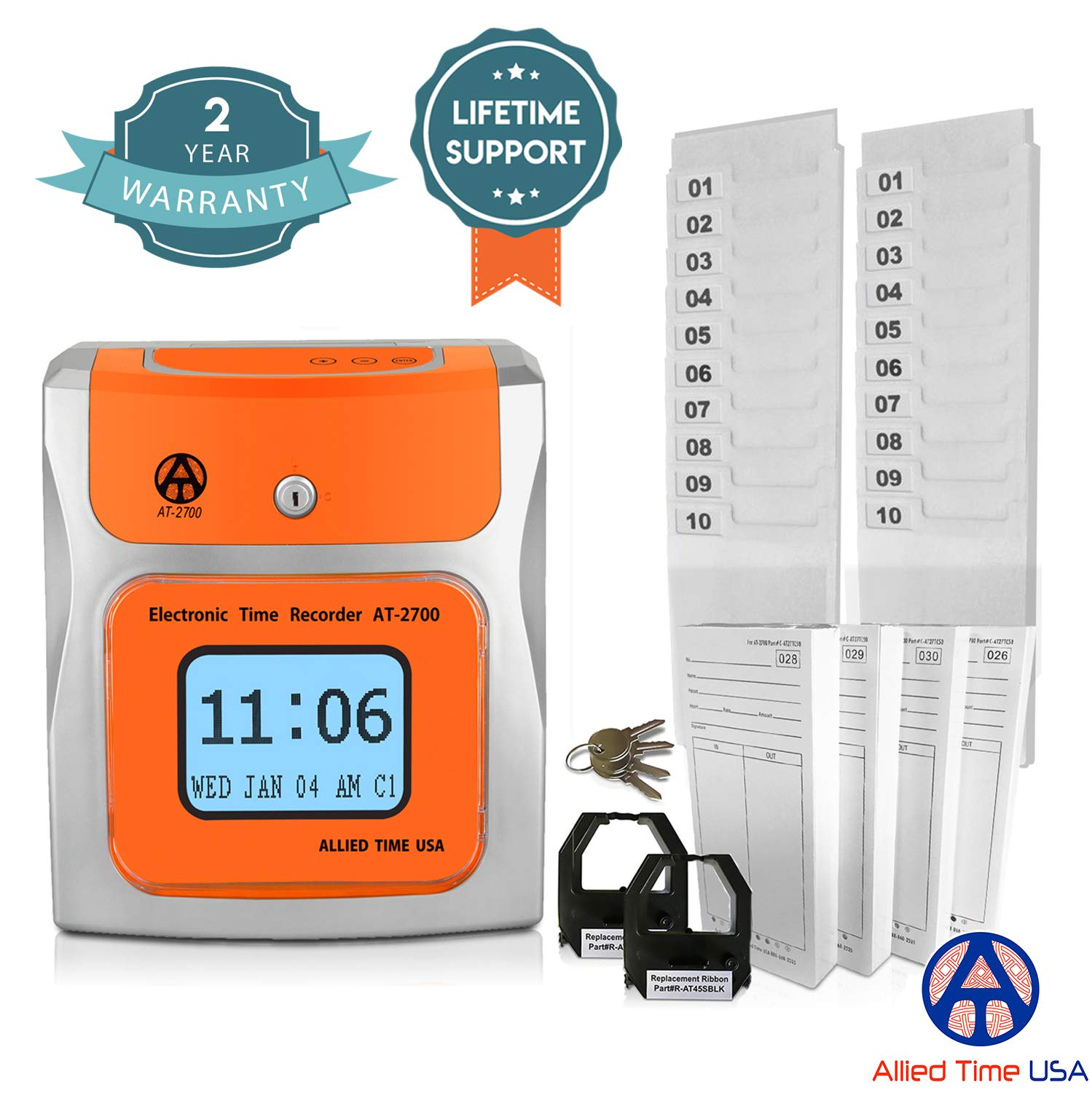 Small Business Time Clock AT-2700 Bundle by Allied Time USA