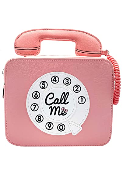 e4b89fb22686 Loungefly x Sanrio Hello Kitty Telephone Call Me Crossbody Purse (One Size,  Pink)