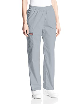 1e07d554d83 Dickies Women's 86106 EDS Signature Scrubs Missy Fit Pull-On Cargo Pant,  Grey XX