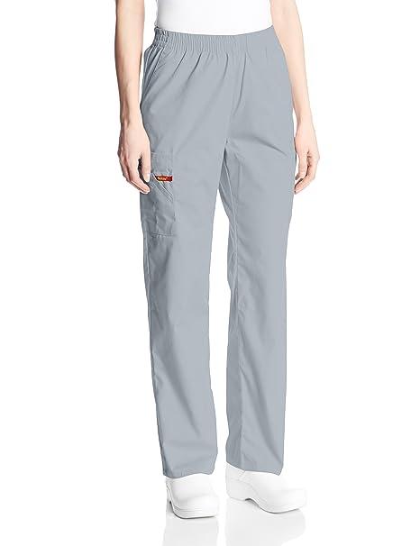 d333a0ac190 Dickies Women's Signature Elastic Waist Scrubs Pant, Grey, XX-Small Petite