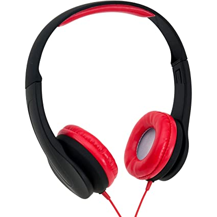 ea2b2691f77 Amazon.com: Onn Over-Ear Extra Bass Headphone, Black/Red ONA14AA004:  Electronics