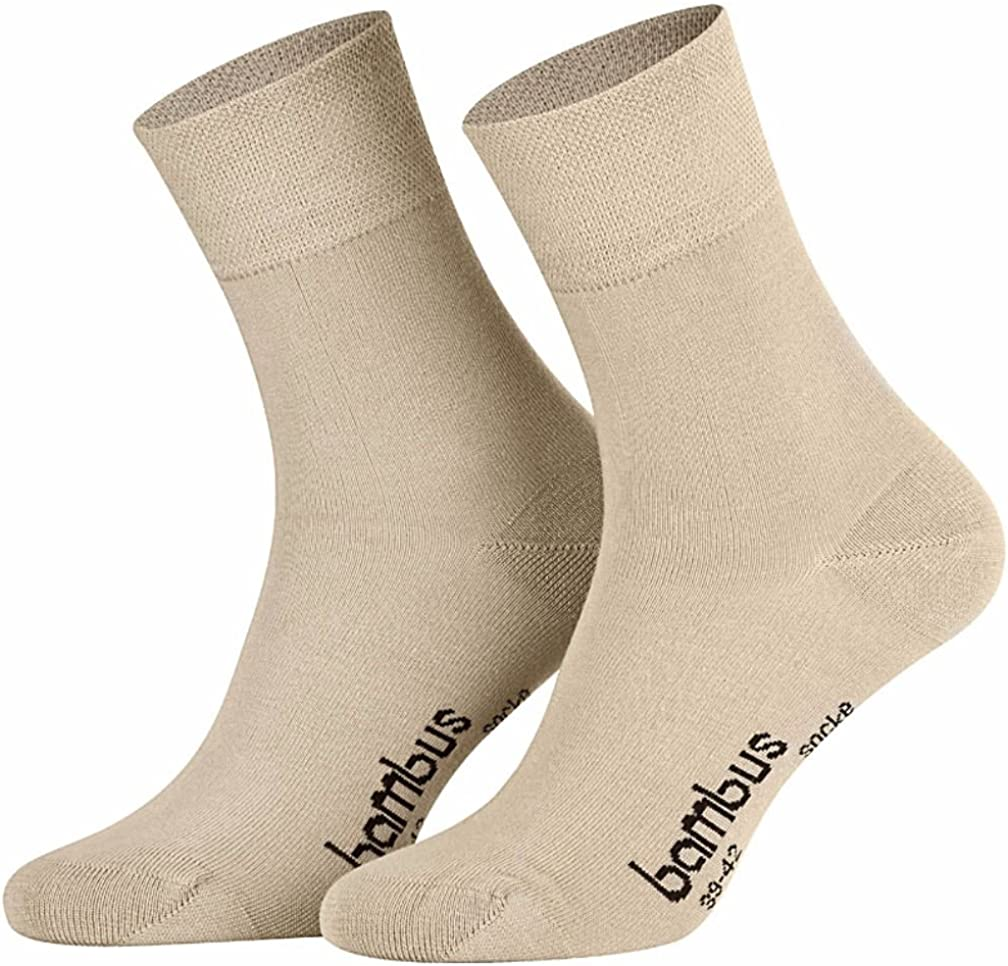 Kein dr/ückendes Gummi . Schwarz 3 Paar superweiche Bambus Socken f/ür Sie und Ihn Marine Weiss Beige Anthrazit Jeans 35-38, 39-42, 43-46, 47-49 Optimaler Tragekomfort- Braun