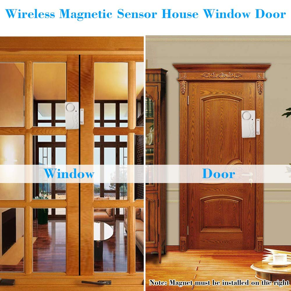 Wireless Magnetic Sensor House Window Door Motion Detector Alarm System Security Home Guarding by Generic (Image #4)