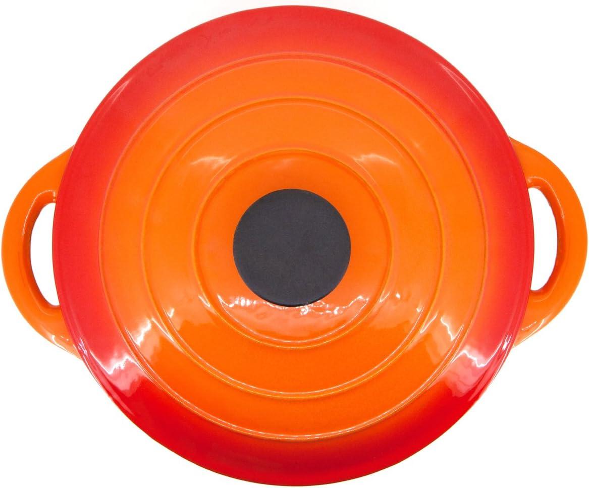 PAMEX Topf aus Gusseisen 26/cm orange