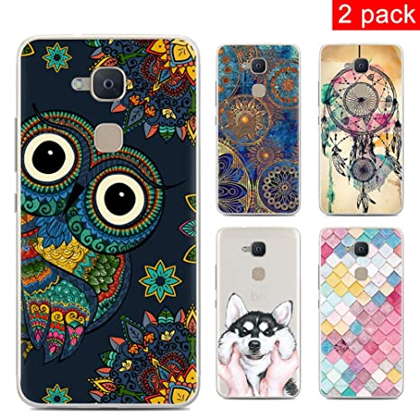 CARPURY [2 Pack] Funda BQ Aquaris V Plus/BQ Aquaris VS Plus Fundas Carcasa Silicone Cartoon Painted Soft TPU Case Cover Carcasa for BQ Aquaris V ...